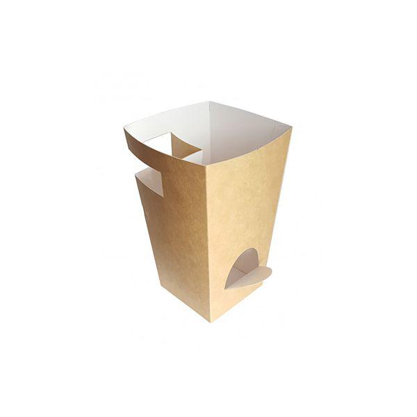 Caja Cartón Para Churros con Chocolate Kraft 78x78x179mm