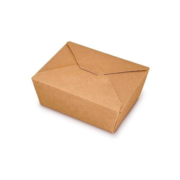 Caja Kraft Rectangular Autocierre 1380ml