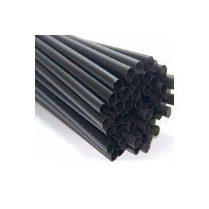 Pajita Plástico Negra 230 mm x 8 mm